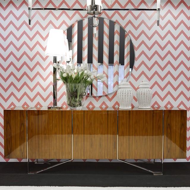 interdesign stripes mirror lovedecor